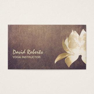 Bloem van Lotus van de Instructeur van de yoga de Visitekaartjes