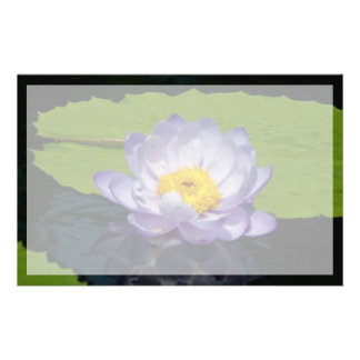 Bloem van Lotus Waterlily van het kobalt de Blauwe Briefpapier