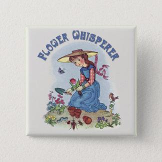 Bloem Whisperer Vierkante Button 5,1 Cm