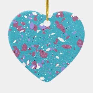 Bloemblaadjes Keramisch Hart Ornament
