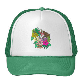 Bloemen 1 trucker pet
