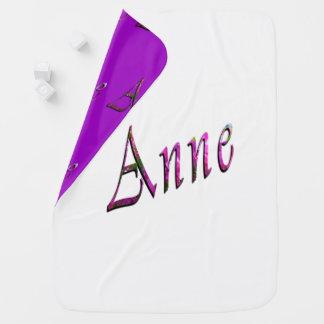 Bloemen Anne Name Logo, Inbakerdoek