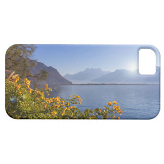 Bloemen bij het meer van Genève, Montreux, Barely There iPhone 5 Hoesje