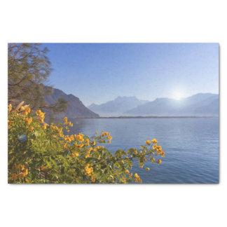 Bloemen bij het meer van Genève, Montreux, Tissuepapier