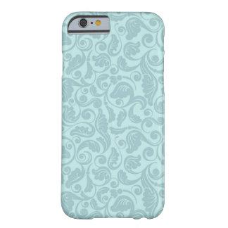 Bloemen Blauwgroen iPhone 6 van het Patroon Hoesje