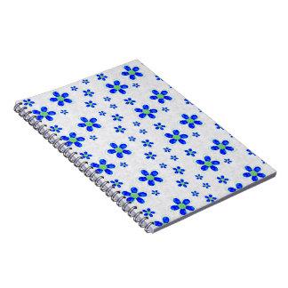 Bloemen, Bloemblaadjes, Knopen - Groenachtig blauw Notitieboek