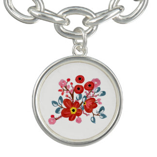 Bloemen Charmes Armband
