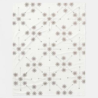 Bloemen Constellatie (Samenvatting) Fleece Deken