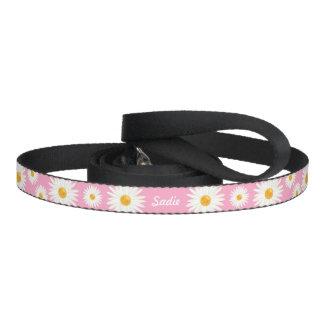 Bloemen Daisy Flowers op Roze en de Eigen Naam van Hondenlijn
