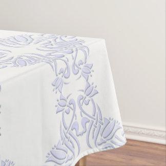 bloemen damast violet patroon tafelkleed