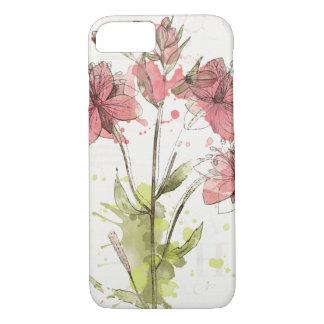Bloemen Donkere Roze Plons iPhone 8/7 Hoesje