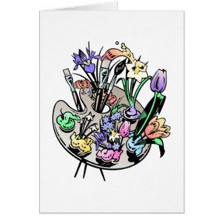 Bloemen en het Palet van de Kunstenaar Kaart