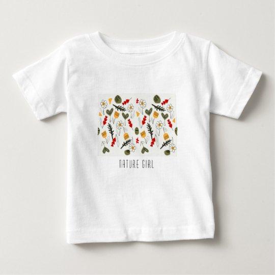 Bloemen en zaden voor kind of vrouw baby t shirts