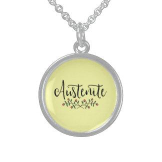 Bloemen Geel Austenite van Jane Austen Sterling Zilver Ketting