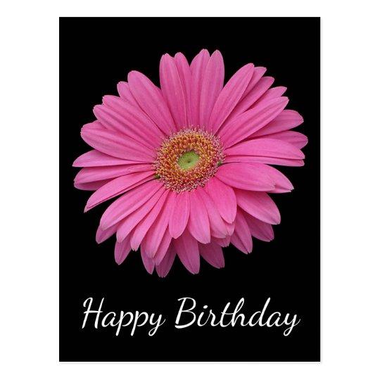 bloemen gelukkige verjaardag roze gerbera daisy briefkaart | zazzle.nl