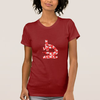 Bloemen Gevormde Microsope T Shirt