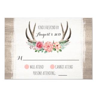 Bloemen Geweitakken Rustiek Huwelijk Kaart