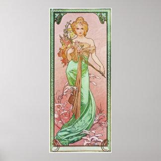 Bloemen Godin Poster