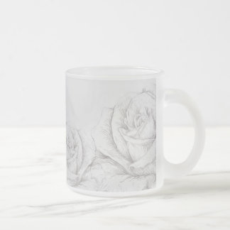 Bloemen Grijze Decoratief van vintage Rozen Matglas Koffiemok