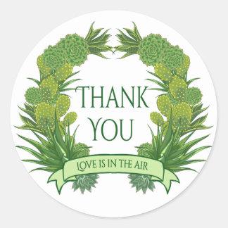Bloemen Groen dankt u het Succulente Zuidwesten Ronde Sticker