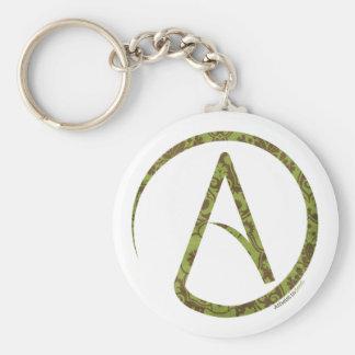 Bloemen Groene en Bruine Atheïst Keychain Sleutelhanger
