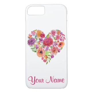 Bloemen Hart met Uw Dekking van de Telefoon van de iPhone 8/7 Hoesje