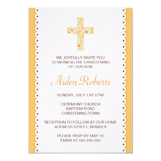 Bloemen het doopseluitnodiging van het bloem 12,7x17,8 uitnodiging kaart