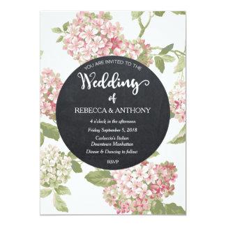 Bloemen het ivoorbord van de huwelijksuitnodiging kaart