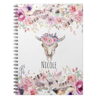 Bloemen & het Rustieke Land Glam Elegante Boho van Ringband Notitieboek
