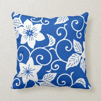 Bloemen Hoofdkussen - het Blauwe Patroon van het Sierkussen