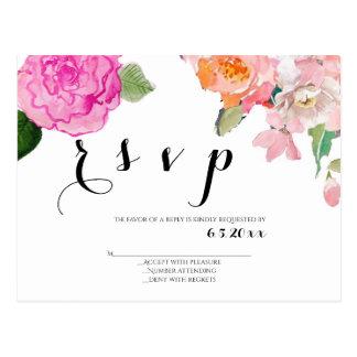 Bloemen huwelijks rsvp briefkaarten briefkaart