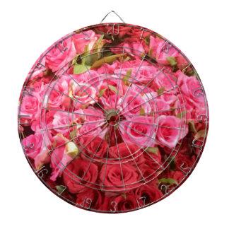 Bloemen in de Filippijnen, de roze en rode rozen Dartbord