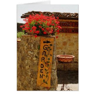 Bloemen in een tuin, Monteriggioni, Siena Briefkaarten 0