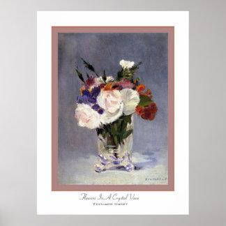 Bloemen in een Vaas ~ Edouard Manet van het Poster