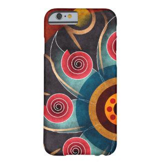 Bloemen iPhone 6 van de Kunst van de Kleur Abstrac Barely There iPhone 6 Hoesje