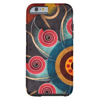 Bloemen iPhone 6 van de Kunst van de Kleur Abstrac Tough iPhone 6 Hoesje