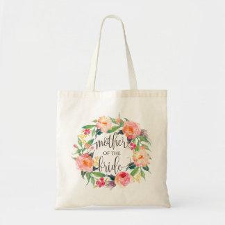 Bloemen Kroon, Moeder van de Bruid, kalligrafie-1 Draagtas