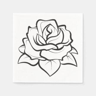 Bloemen nam Partij van het Huwelijk van de Bloem Papieren Servetten