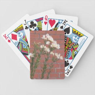 Bloemen op Baksteen Bicycle Speelkaarten