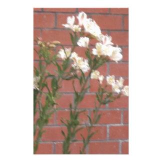 Bloemen op Baksteen Briefpapier