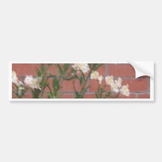 Bloemen op Baksteen Bumpersticker