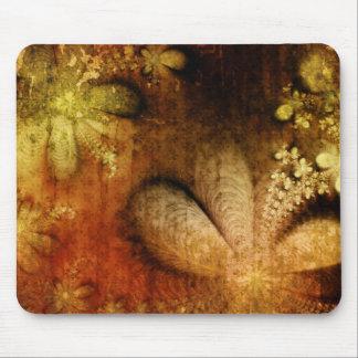 Bloemen Oranjegeel van Grunge van de herfst Muismat