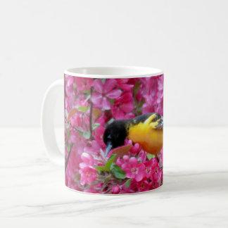 Bloemen Oriole - Vogel Koffiemok