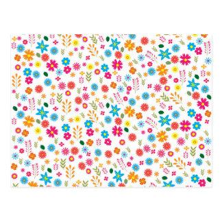 Bloemen patroon briefkaart
