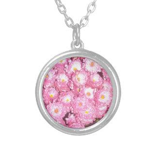 Bloemen producten zilver vergulden ketting