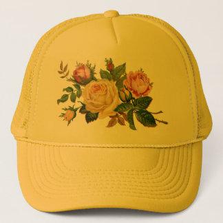 bloemen, rozen trucker pet