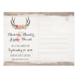 Bloemen Rustiek Huwelijk | van Geweitakken sparen Briefkaart