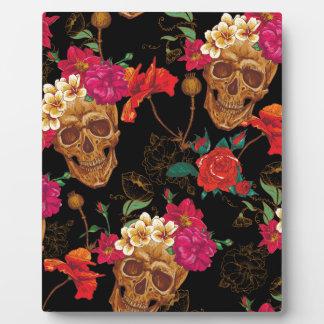 bloemen Schedels Fotoplaat