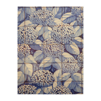 Bloemen tegels hout afdrukken