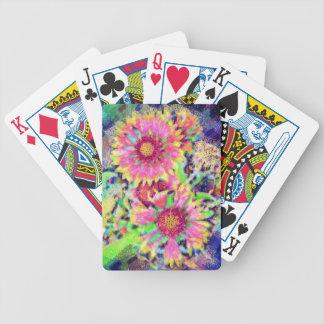 Bloemen themed speelkaarten pak kaarten